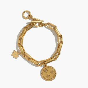 Madewell star shine charm bracelet